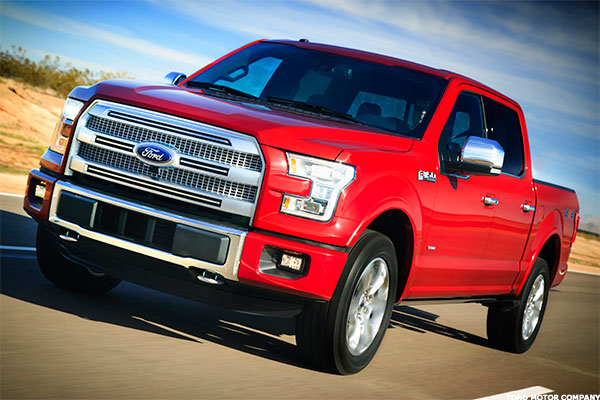 The Ford F150 gets between 19 and 26 mpg.