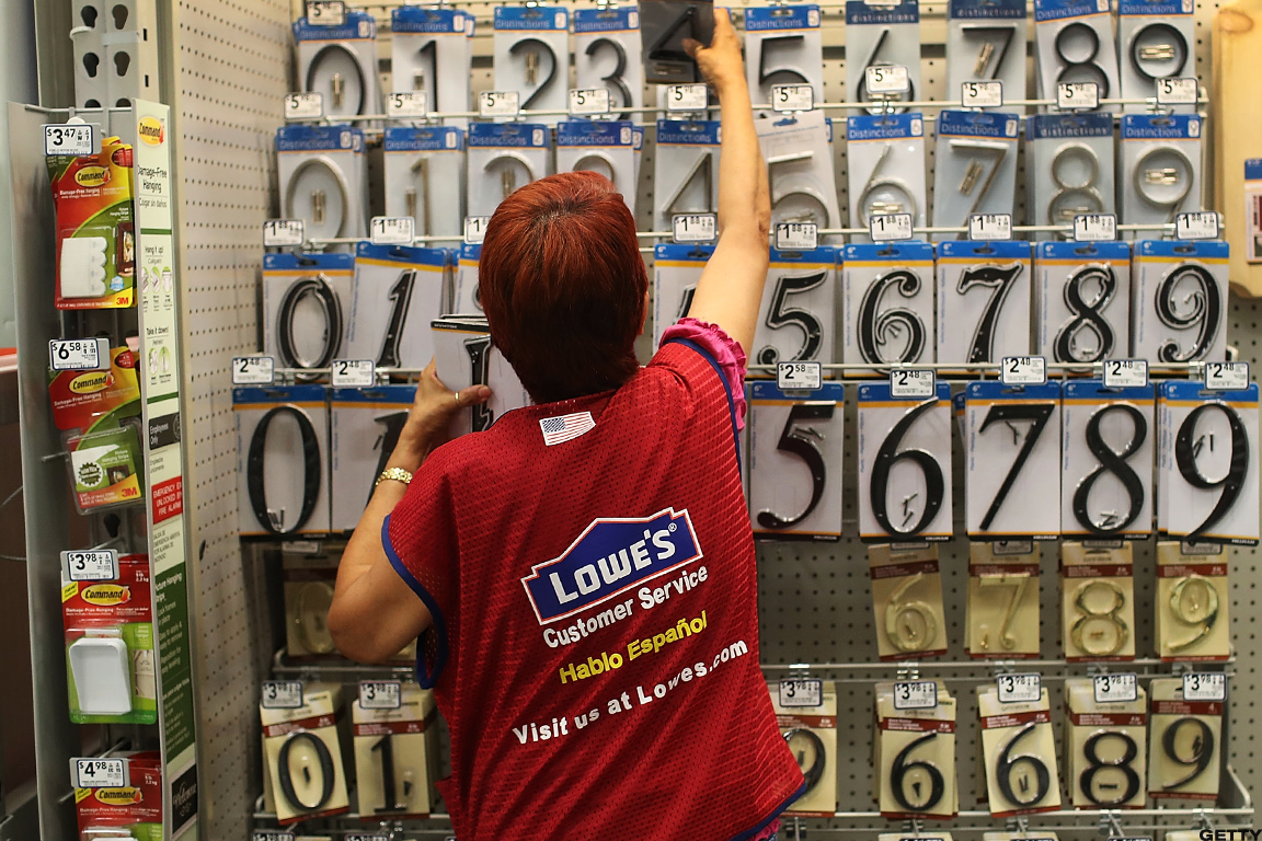 Lowe's winning too?