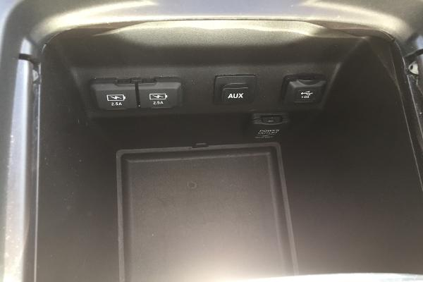 Multiple charging stations in the center console...
