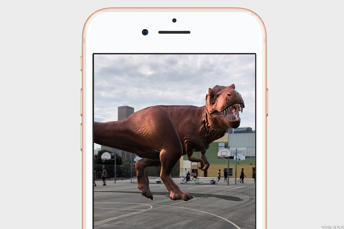 Some of the augmented reality capabilities on iOS 11