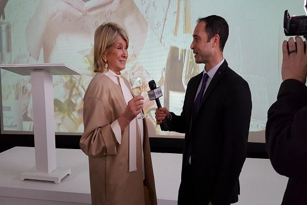 Martha Stewart and I share a laugh, but not about Amazon. Photo credit: Shawn Elias