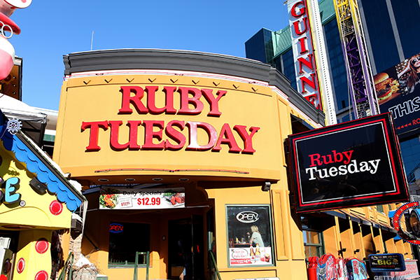 Ruby Tuesday is on the ropes.