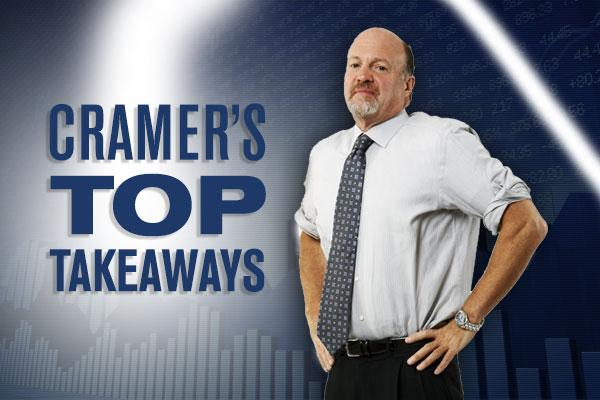 Jim Cramer's Top Takeaways: Apple, Cypress Semiconductor, Blackhawk Network