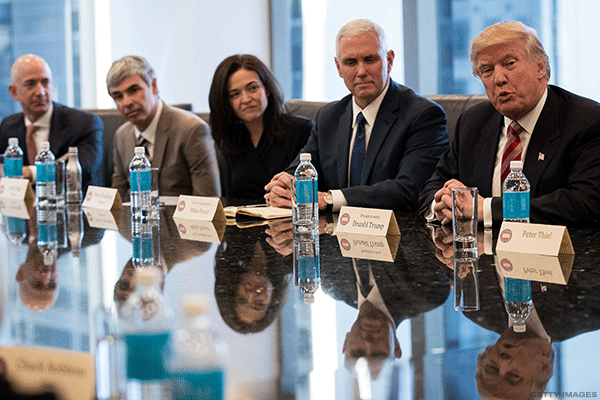 Trump Tells Tech Leaders He'll Do 'Anything to Help' at Roundtable