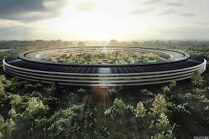 "Allow This New Drone Footage to Show You What Apple's ""Spaceship"" Campus Looks Like Right Now"