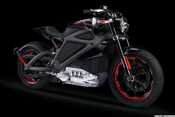 Harley-Davidson Project LiveWire electric motorcycle.