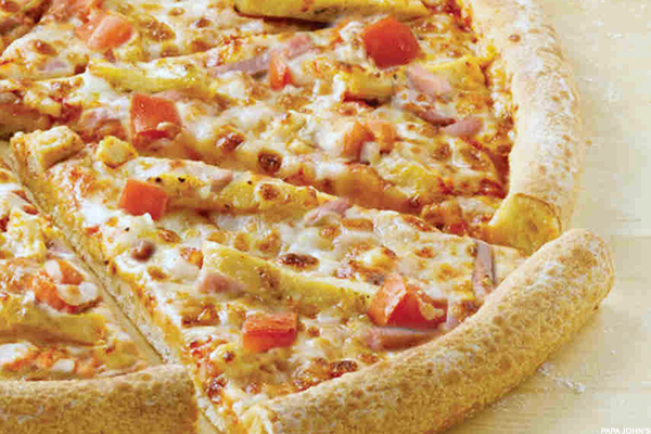 Papa John's Grilled Chicken and Canadian Bacon Pizza
