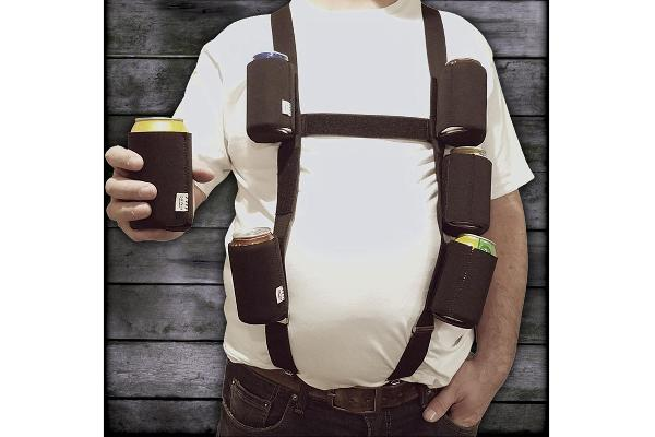 Six-Pack Suspenders with Detachable Coolies