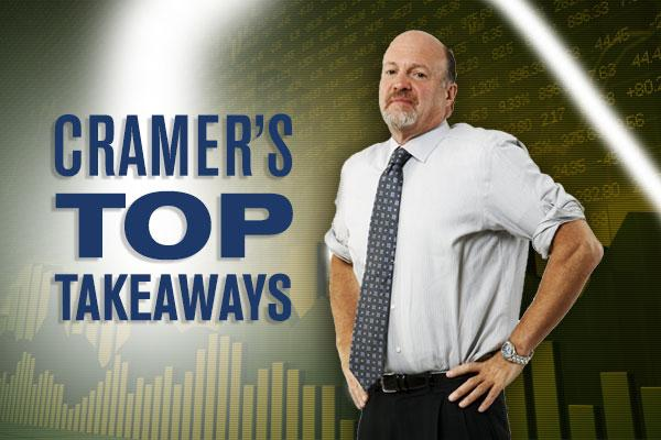 Jim Cramer's Top Takeaways: GrubHub, Popeyes, Air Methods