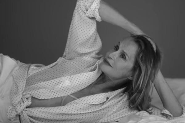 73-Year Old Lauren Hutton Appears in Calvin Klein Underwear Ad