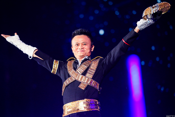 Alibaba's Jack Ma signing off on deals.