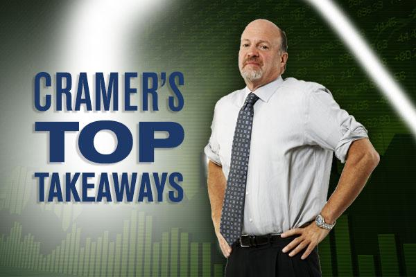 Jim Cramer's Top Takeaways: AT&T, Time Warner, Verizon