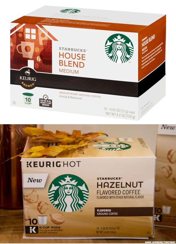 old starbucks kcup box top versus new starbucks kcup box below - Starbucks Keurig Cups