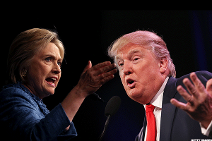 Here's How Clinton vs. Trump, Round 1, Played Out on Social Media