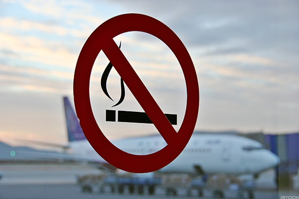 2000: U.S. Bans Smoking on all International Flights Departing From or Arriving in the U.S.