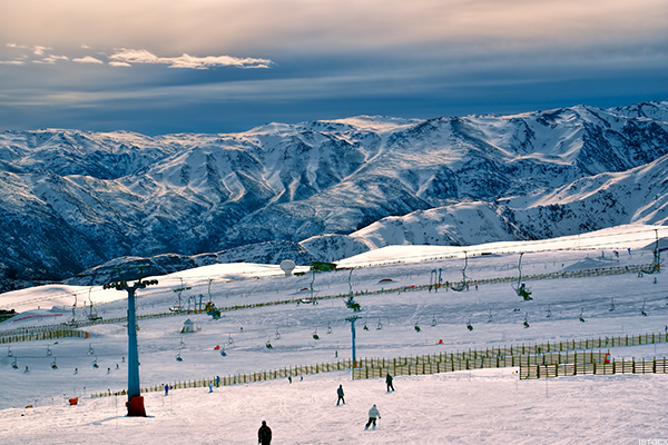 Chilean skiing