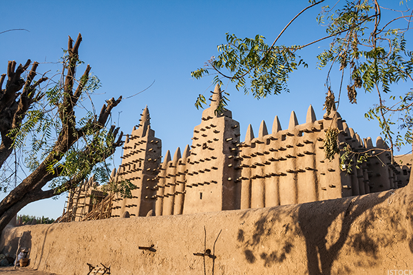 1. The Great Mosque of Djenne, Mali