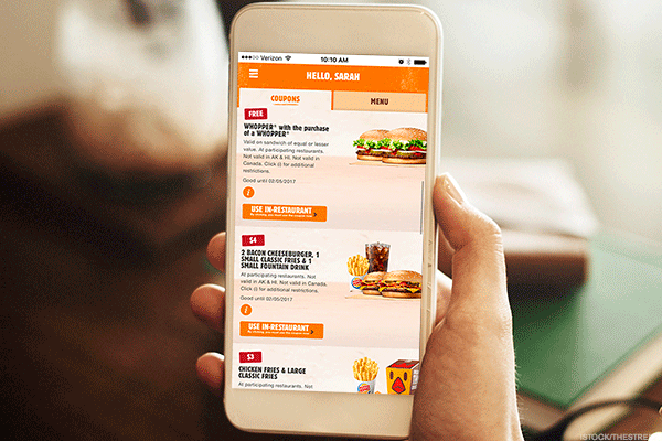 Burger King is exploring mobile.