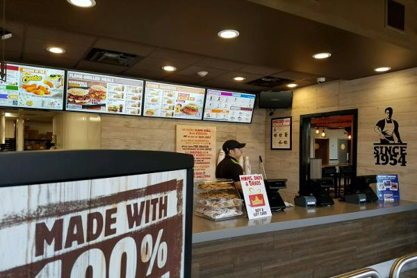 Digital menu boards, employees in snazzy outfits and an array of signs mentioning the quality of Burger King's beef.