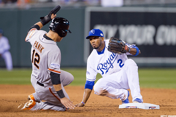 20. San Francisco Giants at Kansas City Royals