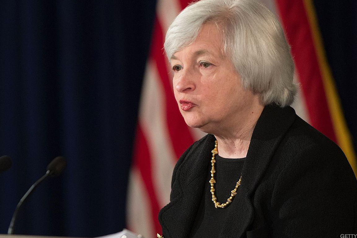 Yellen's weekend comments taken in stride.