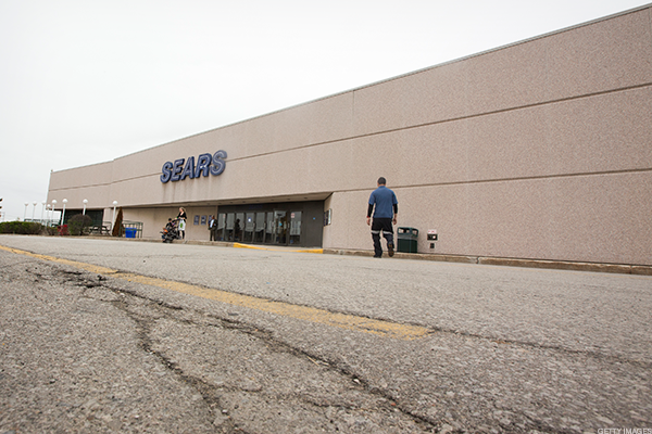 A dying Sears store.