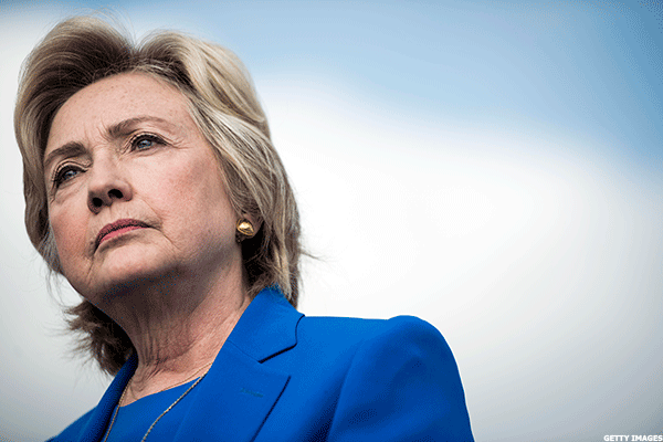 Hillary Clinton Stock Portfolio Down Slightly Amid Tough Week for the Candidate