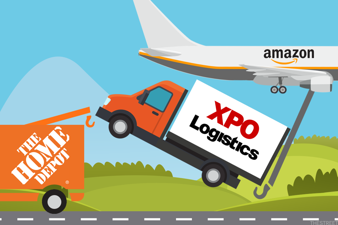 It's been rumored that Amazon could consider a competing bid for XPO Logistics, thwarting Home Depot's potential takeover of the logistics firm.