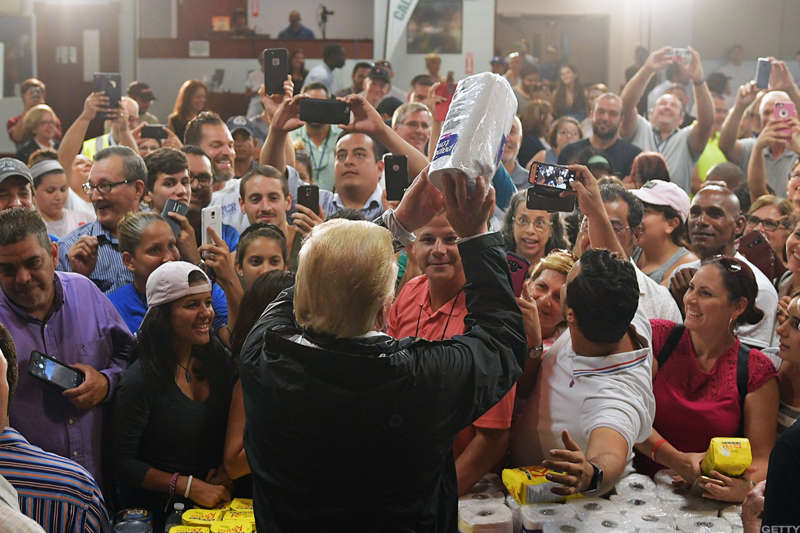 Trump visited Puerto Rico on Oct. 4.