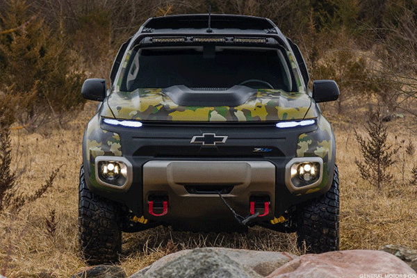 GM's Fuel Cell Powers This Nearly Silent Chevy Colorado ZH2 Military Pickup