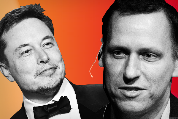 5. Tesla's Elon Musk and Founders Fund's Peter Thiel