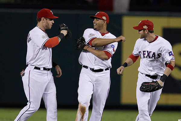 23. St. Louis Cardinals at Texas Rangers