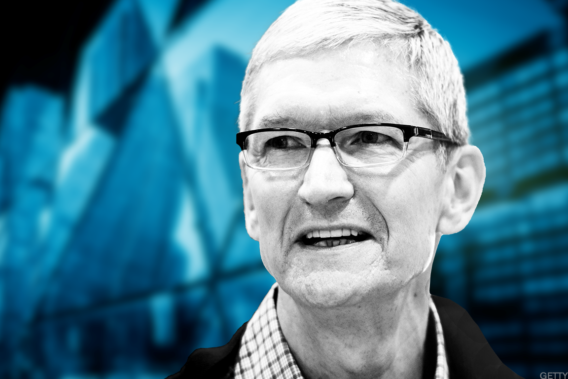 Apple CEO Tim Cook has reason to smile.
