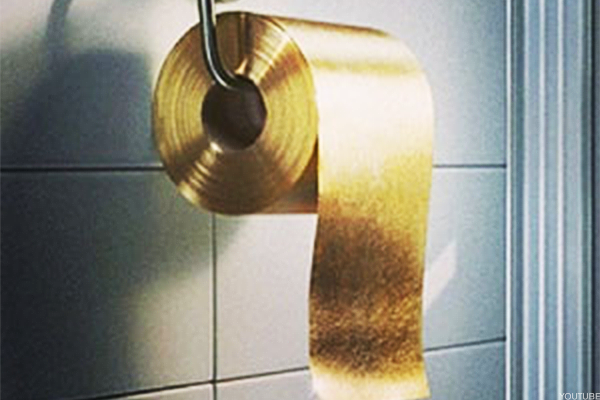 Gold Toilet Paper And Other Real Life Extravagances - Gold flake toilet paper