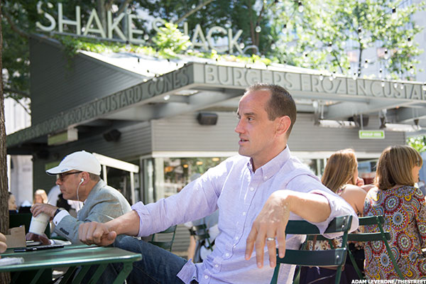 Shake Shack CEO Randy Garutti on a non-snowy day at flagship Shake Shack in New York City.