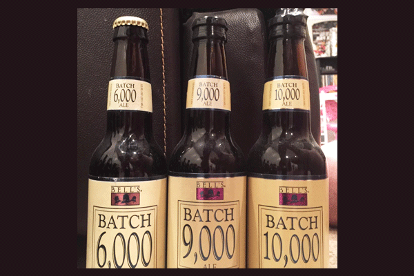 4. 2003 Bell's Batch 6,000, 2010 Bell's Batch 9,000 and 10,000