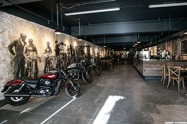 Harley-Davidson Opens a Cool Biker-Themed Cafe - Take That Starbucks