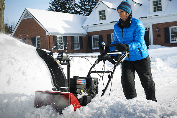 Snowblowers are easier than shovels.