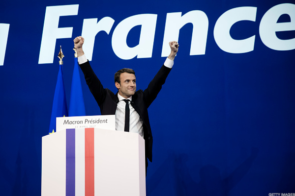 Stock Futures Dip After Macron Win in French Election