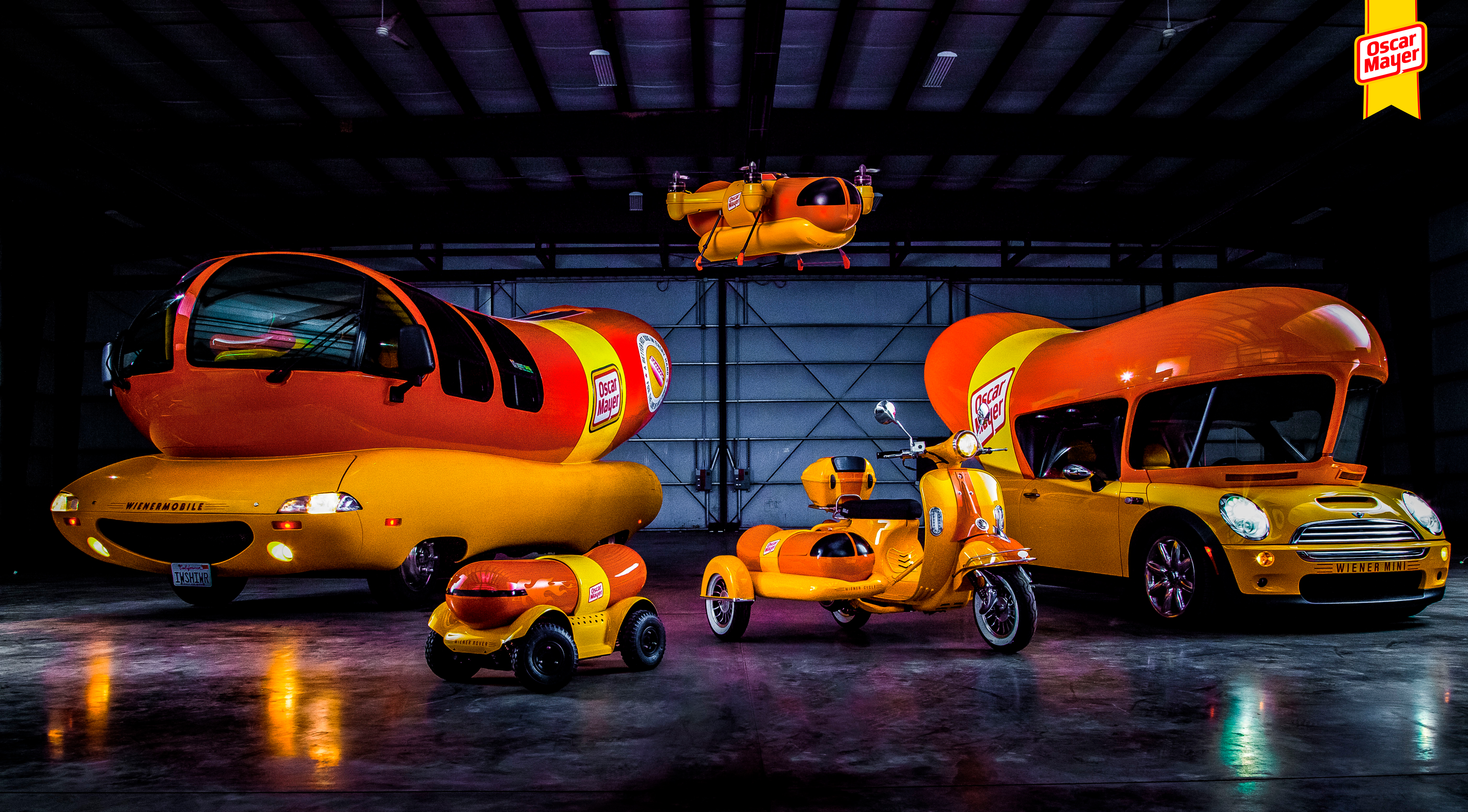 there is now an official oscar mayer wienermobile drone here 39 s a look back at the storied car. Black Bedroom Furniture Sets. Home Design Ideas