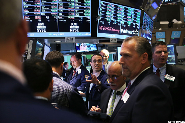 Stocks Slump as Crude Oil Trades Lower