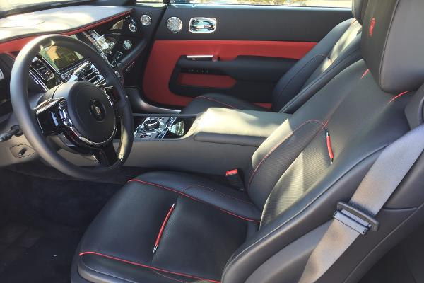 "The red ""RR"" monogramming on the front and back headrests costs $1,200."