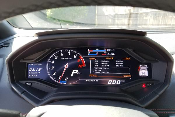 Fully digital instrument cluster made it feel like we were driving in a video game.