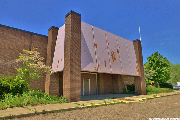 A closed Sears store.