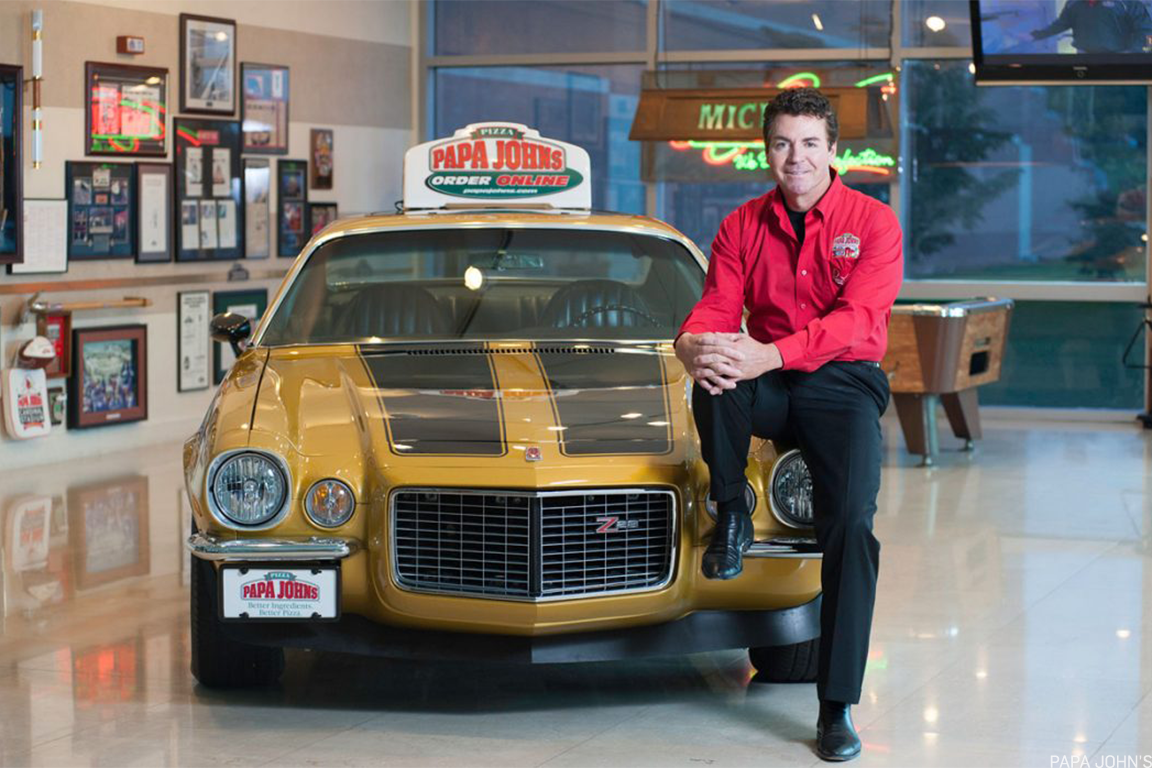 Papa John's Founder John Schnatter with his legendary Camaro.