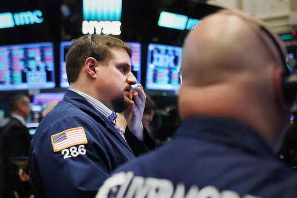 Dow Ends Lower, Stocks Fall as Powell Says Fed 'Grappling' with Rate Cut