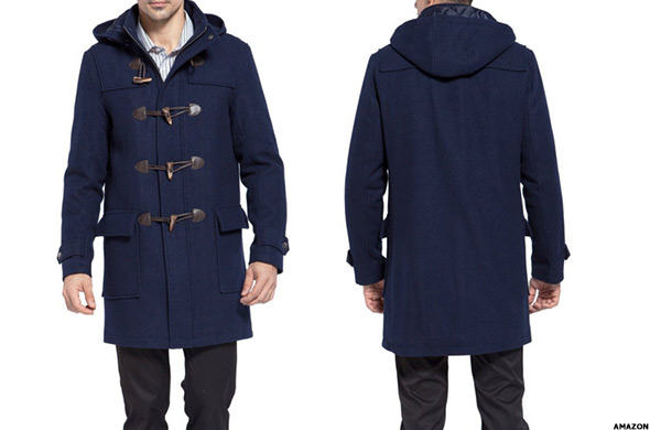 b63169dce37 BGSD Men s Benjamin Wool Blend Duffle Coat