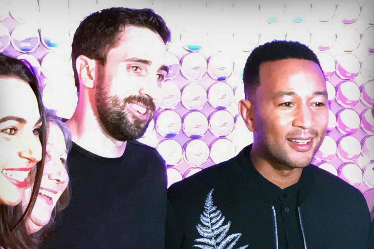 John Legend (right) is partnering with CEO Jake Heimark (center) of Plus Products to sell CBD-infused gummies.