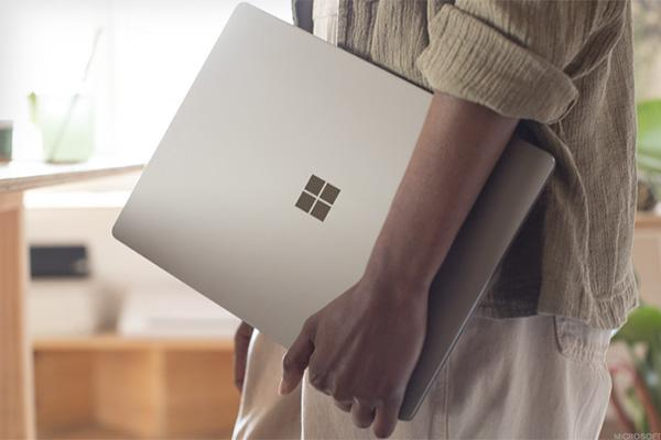 A Microsoft Surface laptop.