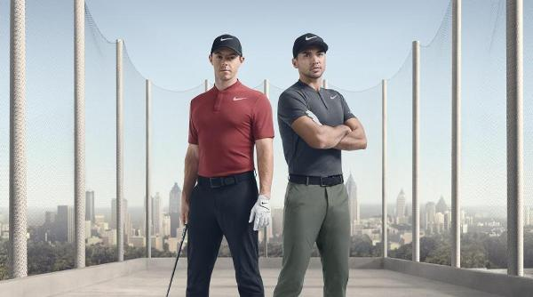 Rory McIlroy (L) and Jason Day (R). Source: Nike